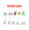 simple game with shadows on a vector image vector image