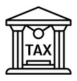tax building icon outline style vector image vector image