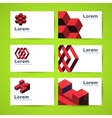 templates business cards vector image vector image