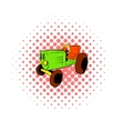 Tractor icon in comics style vector image vector image