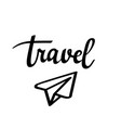 travel paper plane icon vector image vector image