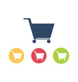 trolley logo icon vector image