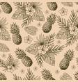 tropical natural vintage seamless pattern vector image vector image