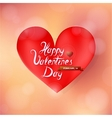 Valentines heart shape vector image vector image