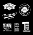 Vintage labels - premium and top quality products vector image vector image