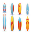 vintage surfboards with cool graphic design vector image