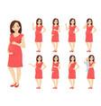 woman pregnant vector image