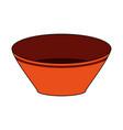 bowl utensil kitchen icon vector image