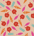 Abstract Food Icons Seamless Pattern vector image