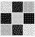 Monochrome geometric line seamless patterns vector image