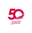 50 year anniversary celebration template design