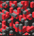abstract isometric geometric vector image vector image