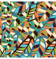 Abstract leaf pattern background vector image vector image