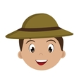 avatar boy with green hat graphic vector image vector image