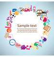 Back to School on paper vector image vector image