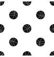 basketball ball pattern seamless black vector image vector image