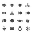 black car dashboard icons set vector image vector image