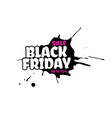 black friday sale text inside a inky vector image vector image