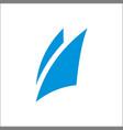blue sail logo icon abstract template vector image vector image