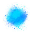 blue watercolor splatters on white background vector image vector image