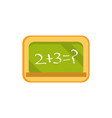 board with math task school and education icon vector image
