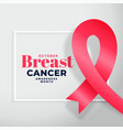 breast cancer awareness month poster design vector image vector image