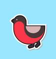 bullfinch bird icon isolated cute winter sticker vector image