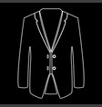 business suit white color path icon vector image vector image