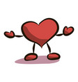 cartoon heart drawing by vector image vector image
