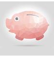 cartoon piggy bank in polygon design vector image vector image