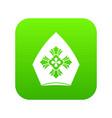 christian hat icon digital green vector image vector image