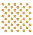 circle golden confetti christmas vector image vector image