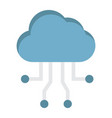 cloud computing flat icon seo and development vector image