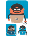 Computer Crime vector image vector image