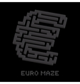 Dollar business isometric black maze vector image
