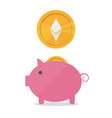 earnings ethereum icon in trendy flat style vector image