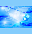 earth blue wave abstract background technology vector image