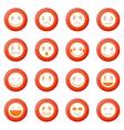 Emoticon icons set vector image vector image