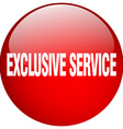 exclusive service red round gel isolated push vector image vector image
