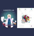 flat chemistry laboratory composition vector image vector image