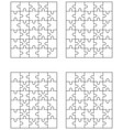 four jigsaw puzzles vector image