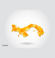 geometric polygonal style map of panama low poly vector image