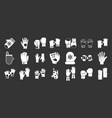 gloves icon set grey vector image