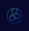gymnastics rings linear icon vector image