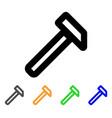 hammer stroke icon vector image vector image