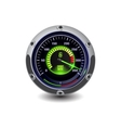 illuminated speedometer vector image