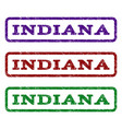 indiana watermark stamp vector image