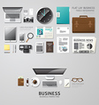 Infographic office tools flat lay idea hipster vector image vector image