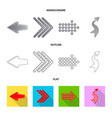 isolated object of element and arrow logo set of vector image vector image