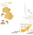 japanese background with gold texture asian vector image vector image